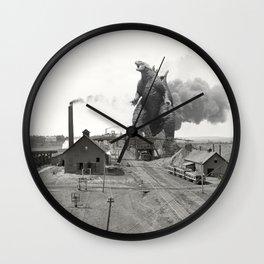 Godzilla King of Monsters Ironwood Michigan 1898 Wall Clock