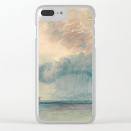 """J.M.W. Turner """"A Paddle-steamer in a Storm"""" Clear iPhone Case"""