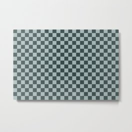 Checkerboard Pattern Inspired By Night Watch PPG1145-7 & Blue Willow Green PPG1145-4 Metal Print