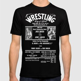 #1-B Memphis Wrestling Window Card T-shirt