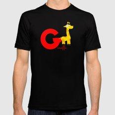 g for giraffe Black Mens Fitted Tee MEDIUM