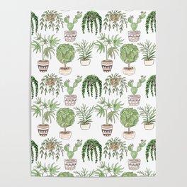 Watercolor . Plants . Poster