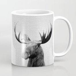 Moose - Black & White Coffee Mug