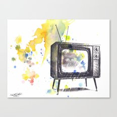 Retro Television Painting Canvas Print