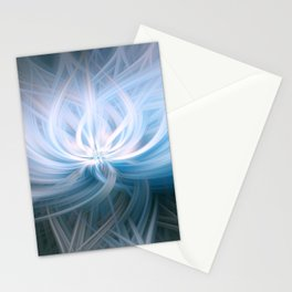 Blue Surf Swirl Blend Stationery Cards