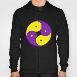 Yellow and Purple Ying Yang Hoody