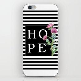 Hope in artichoke flower iPhone Skin