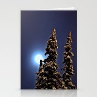finland Stationery Cards featuring Moonlight in Lapland, Finland by Guna Andersone & Mario Raats - G&M Studi