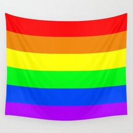 Rainbow flag, Horizontal Stripes version Wall Tapestry