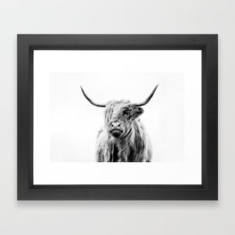 portrait of a highland cow (horizontal by request) Framed Art Print