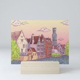 Travel Belgium Wanderlust Mini Art Print