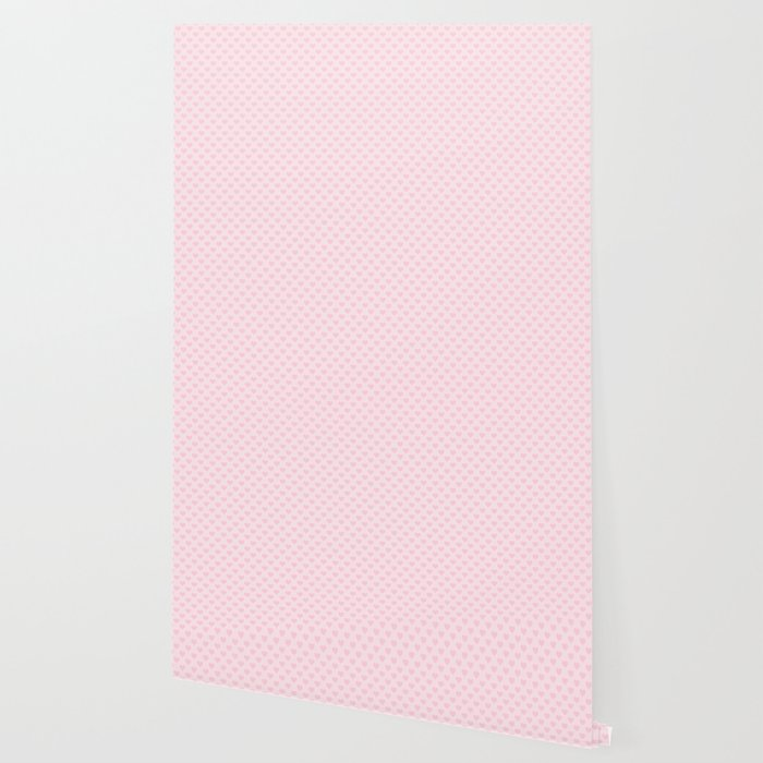 Large Light Soft Pastel Pink Love Hearts Wallpaper