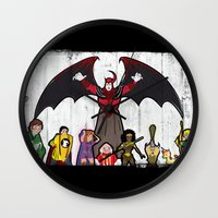 dungeons and dragons Wall Clocks featuring DUNGEONS & DRAGONS by Zorio