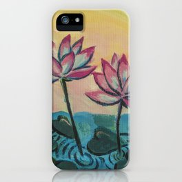 Lotus in the Pond iPhone Case