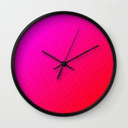80's grade red Wall Clock