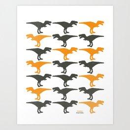 Dinomania A Art Print