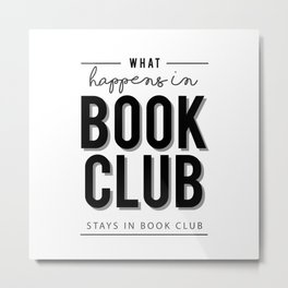 What happens in Book Club Metal Print