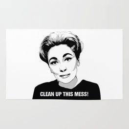 Mommie Dearest - Clean up this Mess! - Pop Art Rug