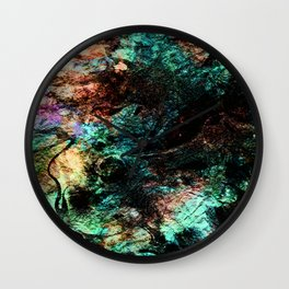 marble inks colorful texture c Wall Clock