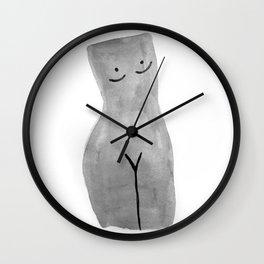 Bust BW Wall Clock