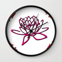 very beautiful flowers suitable for those who like flowers Wall Clock