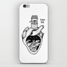 People's hearts are like deep wells iPhone Skin