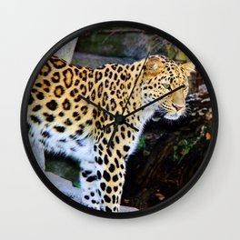 Standing Leopard Wall Clock