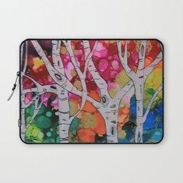 """Rainbow Birch Trees"" Laptop Sleeve"