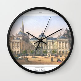 Paris art print Paris Decor office decoration vintage decor PALAIS DE JUSTICE of Paris Wall Clock
