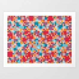 Yep. Pixels! Art Print