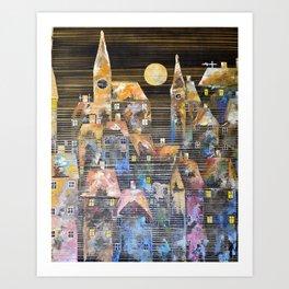 The Lunar City Art Print