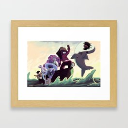 Crystal Gems Framed Art Print