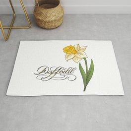 Yellow Daffodil Rug