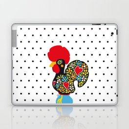 Famous Rooster of Barcelos 01 | Lucky Charm & Polka Dots Laptop & iPad Skin