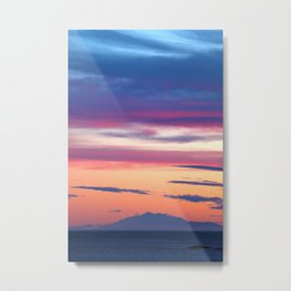 South Coast Sunset Metal Print
