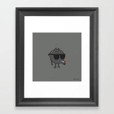 Badass Bomb Framed Art Print