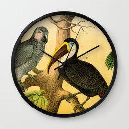 6 Birds Wall Clock