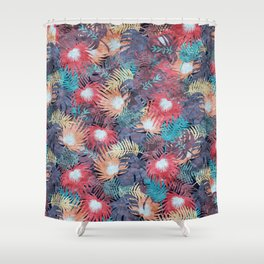Tropical Leaves #04 Shower Curtain
