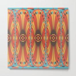 Geometric extravaganza pattern Metal Print