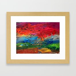 View from the earth Framed Art Print