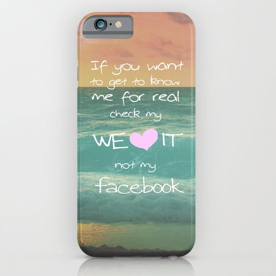 LOVE WE*HEART*IT iPhone & iPod Case