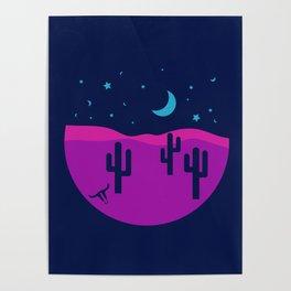 Modern Desert Cactus Scene #desert #cactus Poster