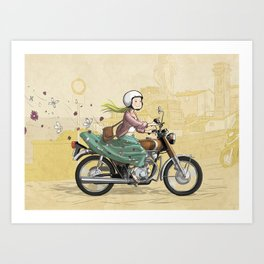 Spring Rider Art Print