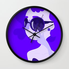 "Color Girl Series: ""Violet"" Wall Clock"