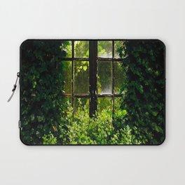 Green idyllic overgrown cottage garden window Laptop Sleeve