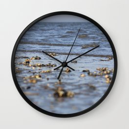 Shells in the sand 4 Wall Clock