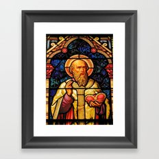Saintly Glass #2 Framed Art Print