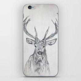 Stag in Pencil iPhone Skin