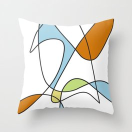 Mid Century Modern Abstract Design Throw Pillow
