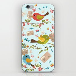 Special Springtime Delivery From Little Birds Pattern iPhone Skin